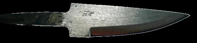 Johan Hamre Modell B Håndsmidd knivblad