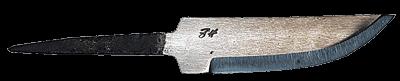 Johan Hamre Modell C Håndsmidd knivblad