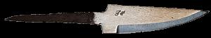 Johan Hamre Modell E Håndsmidd knivblad