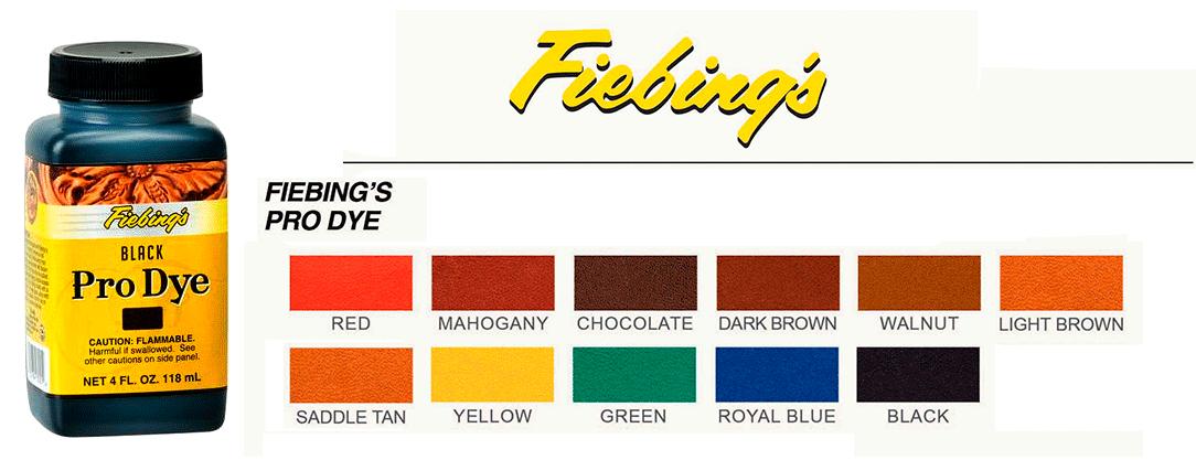 Fiebings Pro Oil Dye fargekart